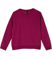 cotton on women's long sleeve fleece crew sweater