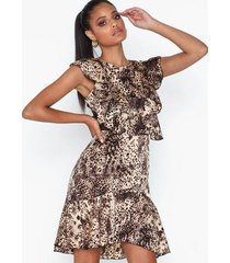 ax paris leopard flounce dress skater dresses