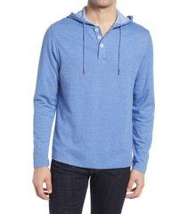 men's mizzen+main fairway cotton & modal hoodie, size small - blue