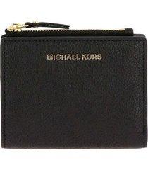 michael kors jet set black medium wallet