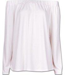 limited ltd1-098 shirt off-shoulder with side seam summer white