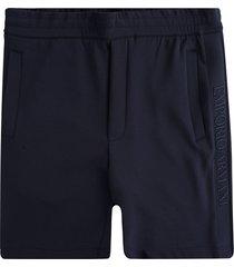 emporio armani double-jersey bermuda shorts embroidered logo tape | blu navy | 3k1pd5-1jhsz