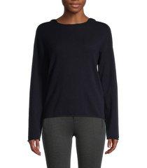 vince women's wool & cashmere hoodie - coastal blue - size xs