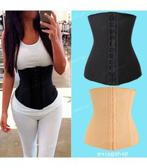 waist cincher trainer underbust tummy girdle corset sport body shaper training 8