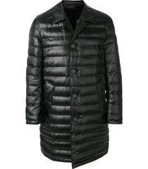 burberry padded mid-length coat - black