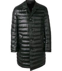 burberry padded mid-length coat - black