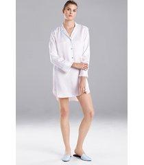 natori feathers satin essentials sleepshirt pajamas, women's, blue, size xl natori