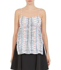 carven women's jacquard ruched tank - size 36 (4)