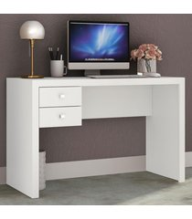 mesa escrivaninha 2 gavetas me4123 branco - tecno mobili
