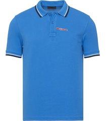 brand new mens prada turquoise signature cotton polo shirt