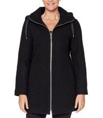 vince camuto fleece-lined hooded coat