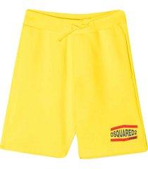 dsquared2 yellow shorts