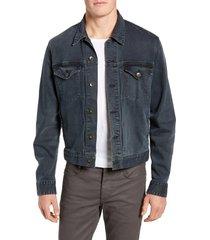 men's rag & bone definitive slim fit jean jacket, size small - blue