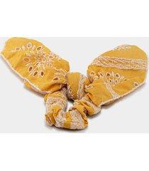 ariella eyelet pony scarf - marigold