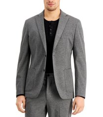 calvin klein men's slim-fit stretch gray suit jacket