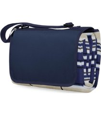 oniva by picnic time blanket tote blue stripe & navy outdoor picnic blanket