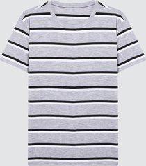 camiseta para hombre franjas grises color gris, talla l