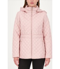 kate spade new york hooded quilted coat, created for macy's