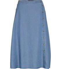 slj s skirt knälång kjol blå soaked in luxury