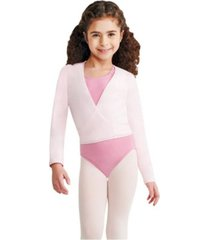 capezio big girls long sleeve wrap top with self tie