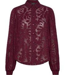 slfreese ls jacquard shirt b overhemd met lange mouwen paars selected femme