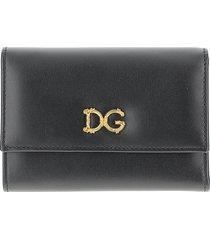 dolce & gabbana designer wallets, black wallet with dg baroque logo
