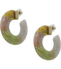 argollas resina verde musa accesorios
