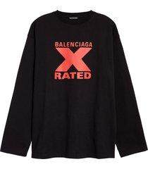 men's balenciaga x-rated oversize graphic tee