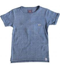 indian blue stevig zacht indigoblauw shirt