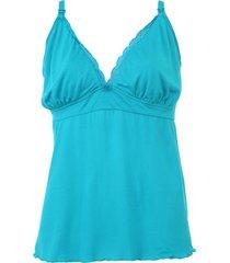 regata love secret lingerie amamentação verde