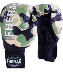 luva boxe muay thai fheras new top camuflado .