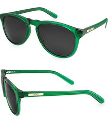 aqs women's 53mm banks oval sunglasses - green