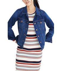 women's madewell denim jacket, size small - blue
