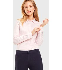 blusa tommy hilfiger ml rosa - calce ajustado