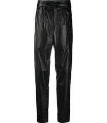 isabel marant high-waisted tie-waist trousers - black