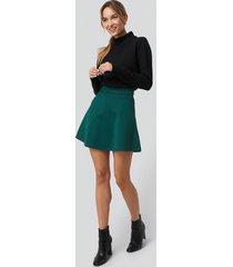 pamela x na-kd reborn high waist skater mini skirt - green