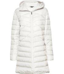 kataja w+ quilted jacket gevoerde lange jas wit halti