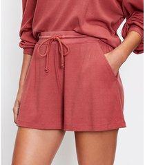 loft petite lou & grey ribbed shorts