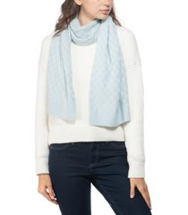 charter club cashmere check-knit muffler scarf, created for macy's