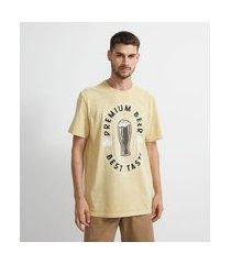 camiseta manga curta premium beer | marfinno | amarelo | m