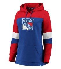 majestic new york rangers women's colorblocked fleece sweatshirt