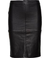 vipen new coated skirt - noos knälång kjol svart vila