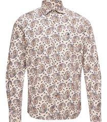matteo spread collar shirt overhemd casual beige morris