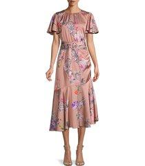 sachin & babi women's tori floral-print midi dress - size 6