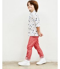 spodnie secret island jeans red