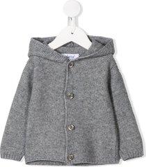 aletta hooded cardigan - grey