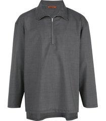barena taparo lightweight pullover - grey