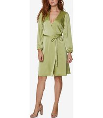 bcbgeneration satin mini wrap dress