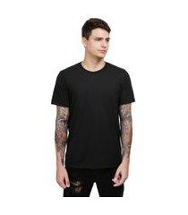 camiseta lucas lunny t shirt gola redonda preta