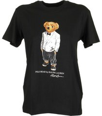 ralph lauren big fit tuxedo polo bear tee